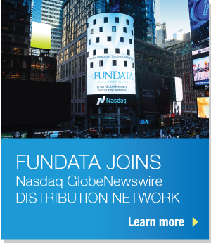 FUNDATA JOINS Nasdaq GlobeNewswire DISTRIBUTION NETWORK